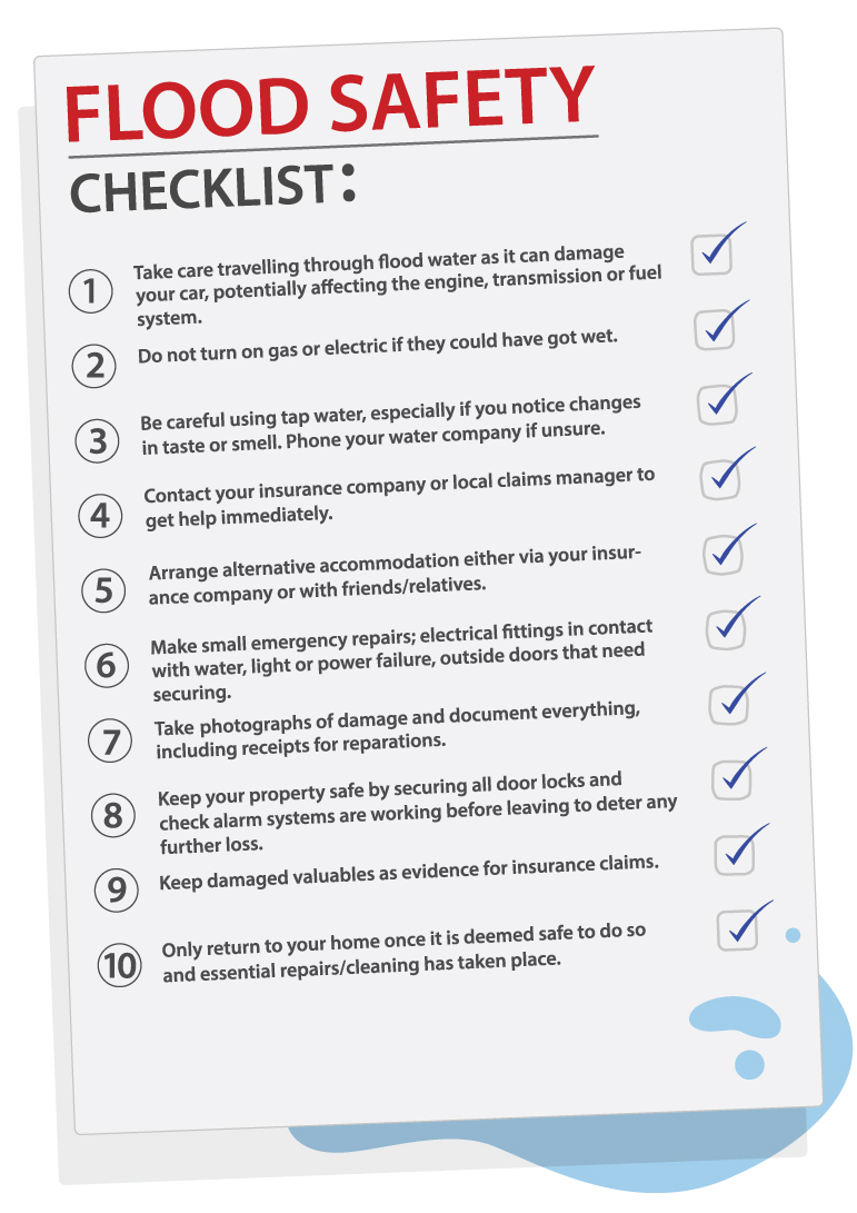 ten point checklist for flood safety