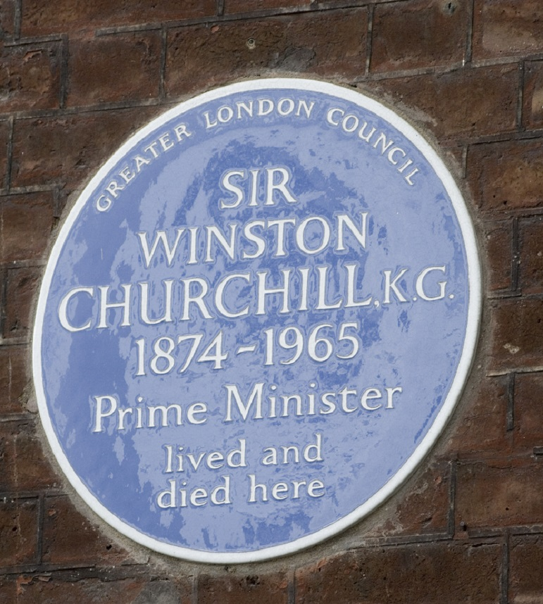 Blue plaque to Sir Winston Churchill, 28 Hyde Park Gate,
